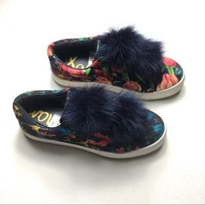 Sam Edelman Faux Fur Floral Loafers 8.5